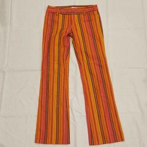 Nanette Lepore | Bright Striped Boot Cut Pants